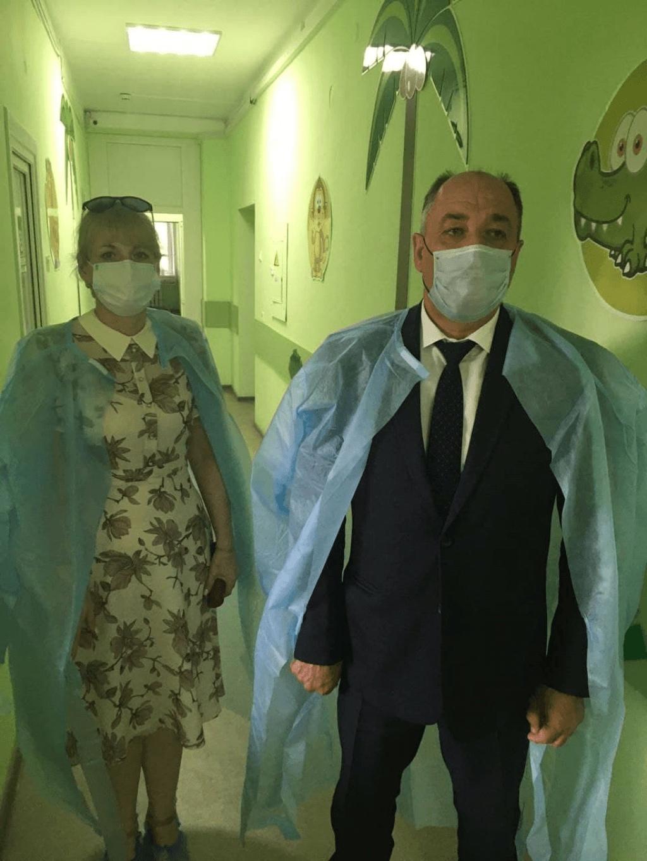 Глава Администрации города Владимир Шевченко посетил педиатрическое отделение Центральной городской больницы
