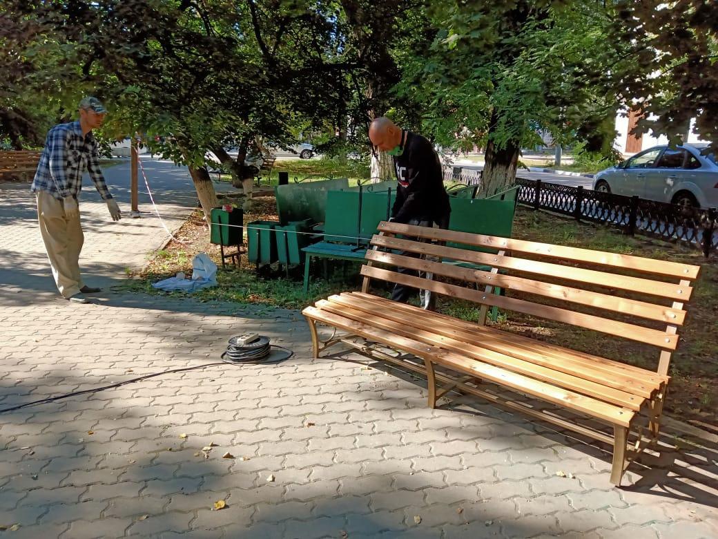Центральная городская аллея по проспекту Карла Маркса заметно преобразилась