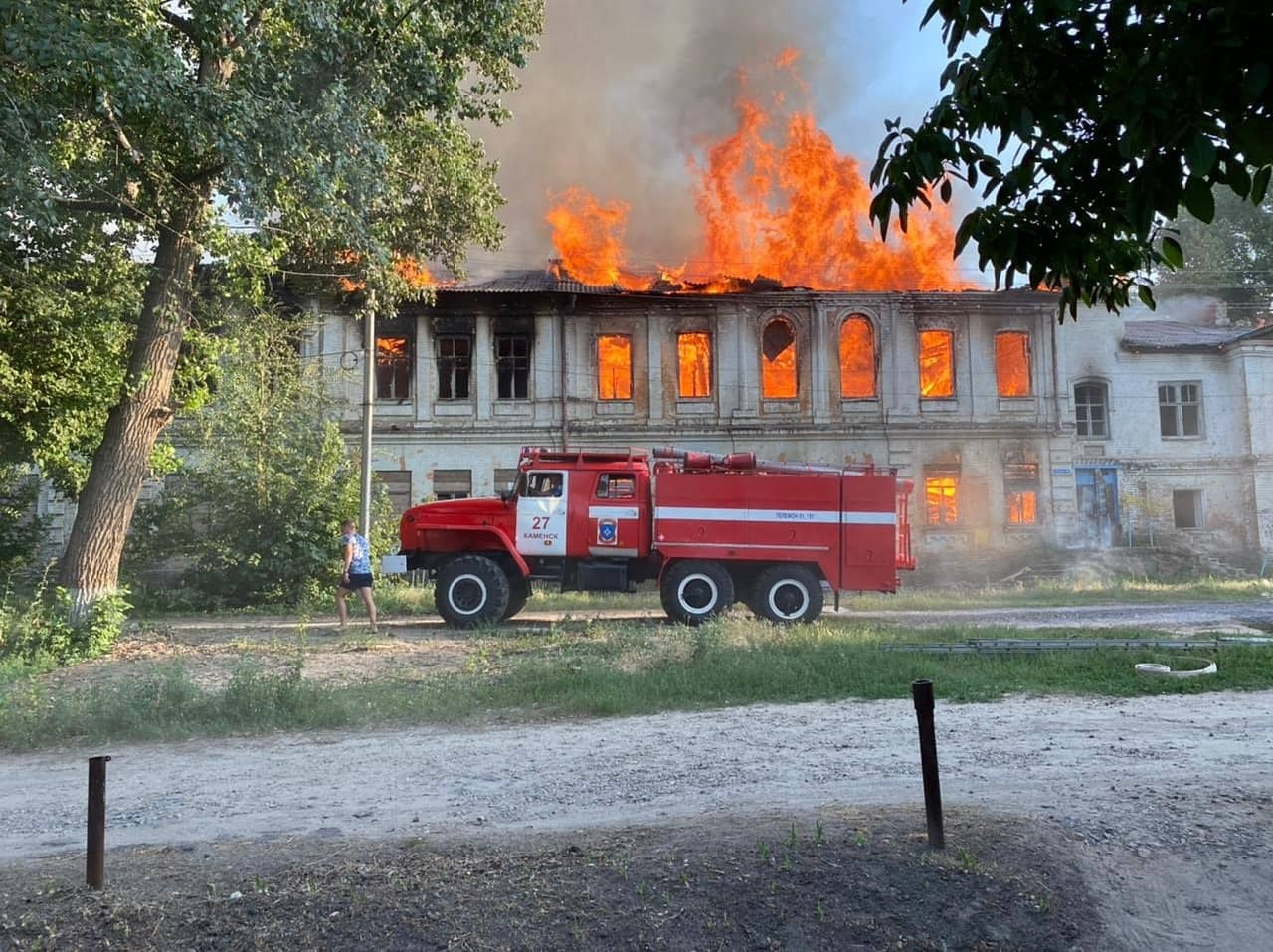 Школа №33 сгорела в Каменске-Шахтинском