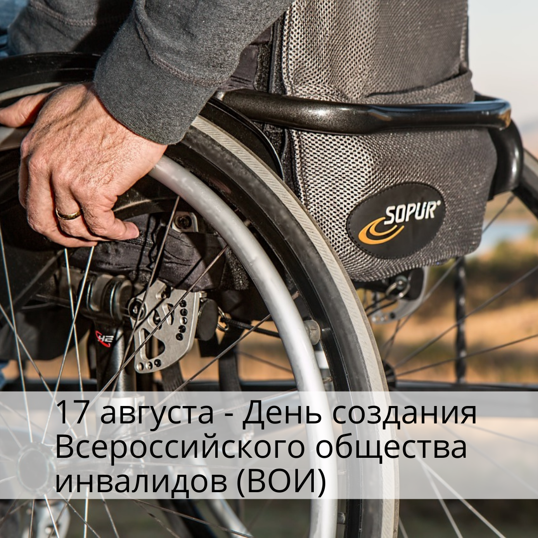 17 августа — День создания Всероссийского общества инвалидов (ВОИ)